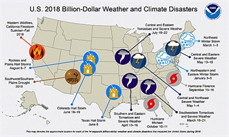Disasters Causing Losses in Billions of Dollars